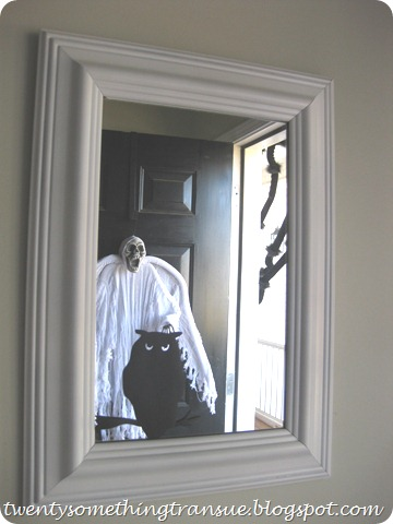 Halloween Decorations on Mirror