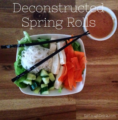 Deconstructed Spring Rolls - Easy Clean Eating at Home