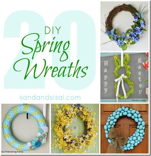 20 DIY Spring Wreaths - Sand & Sisal