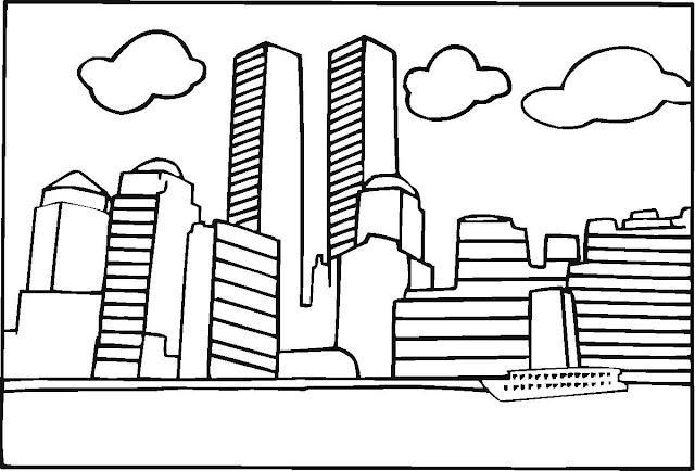 Free 9 11 coloring pages ~ CIDADE PARA COLORIR – Colorir e Aprender