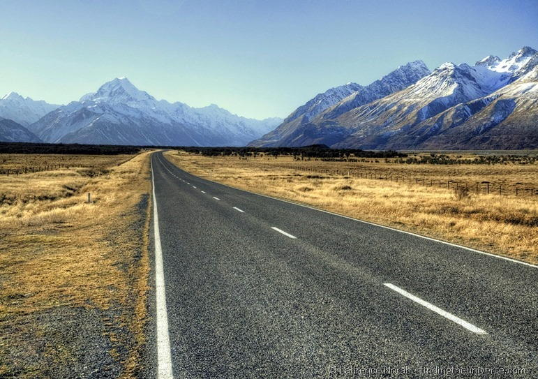 Road to mount cook 2