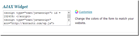 Contact form customization