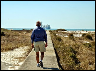 Fort Pickens - Wall Walking