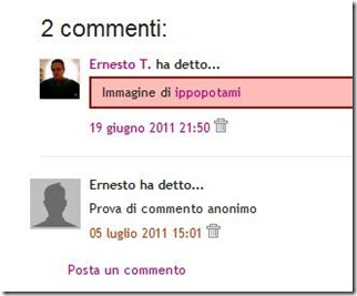 commenti avatar blogger