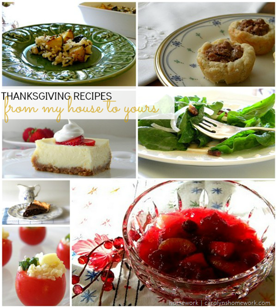 Thanksgiving recipes via homework | carolynshomework.com