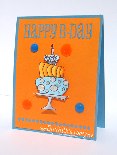 Garabattas - Birthday Ca - Happy Birthday Card - Ruthie Lopez - My hobby my art