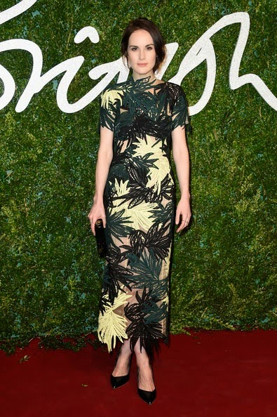 Michelle Dockery attends the British Fashion Awards