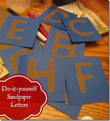 DIY Sandpaper Alphabet Letters for Kids