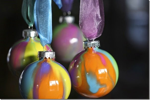 Christmas ornament crafts for kids - Pour Paint Ornaments are so beautiful and simple to make! Kids of all ages from preschool to Kindergarten, and elementary age kids can do this Christmas activity for kids.