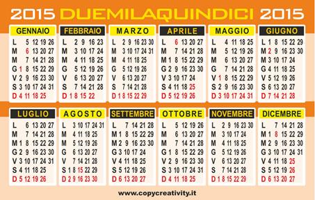calendario tascabile 2007 da