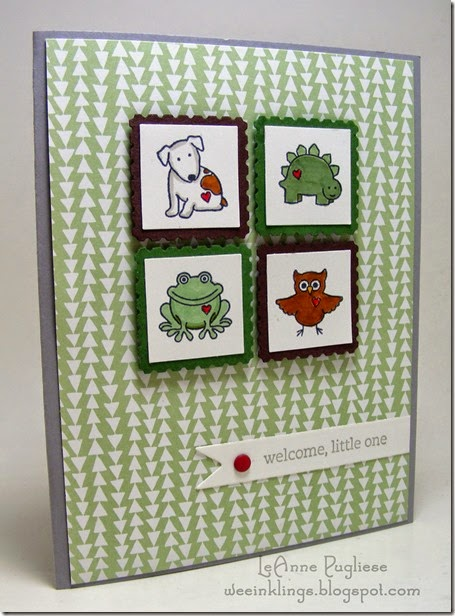 LeAnne Pugliese WeeInklings Tiny Treats Baby Card