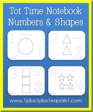 Tot Time Numbers and Shapes