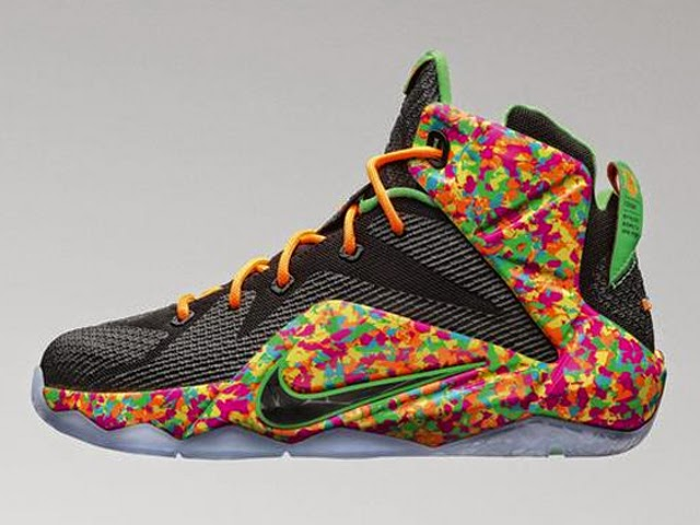 online retailer d83fd 81b50 Upcoming Nike LeBron 12 GS 8220Fruity Pebbles8221 ...