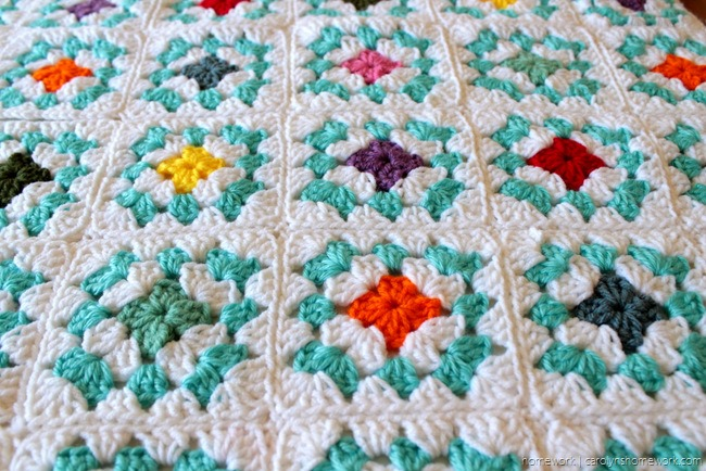 College Granny Square Blanket via homework (3)
