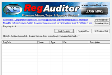 RegAuditor - Find Hidden Spyware and Malware