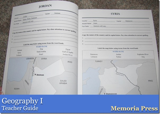 Geography I from Memoria Press Teacher Guide