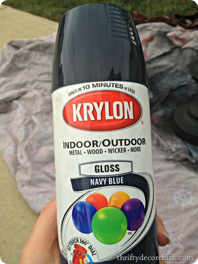 navy blue spray paint