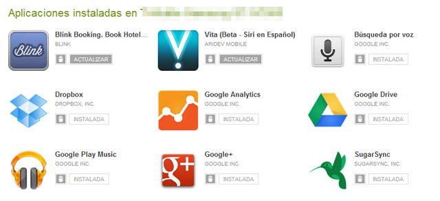 Aplicaciones Android instaladas