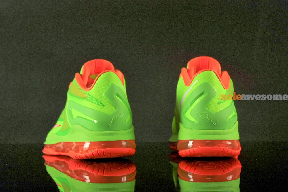 premium selection 934aa f4de0 ... Nike Lebron XI Low GS in Bright Volt and Really Bright Orange