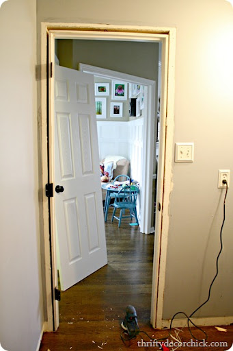 DIY craftsman door trim & DIY craftsman door trim from Thrifty Decor Chick