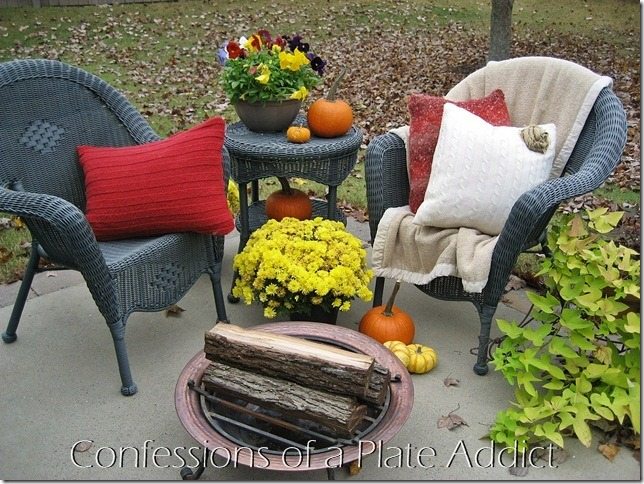 Confessions of a Plate Addict - Cozy Patio