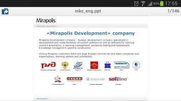 Screenshot of MVR Mobile