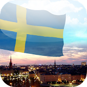3D Sweden Flag Live Wallpaper