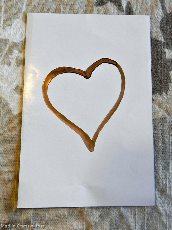 painted gold heart