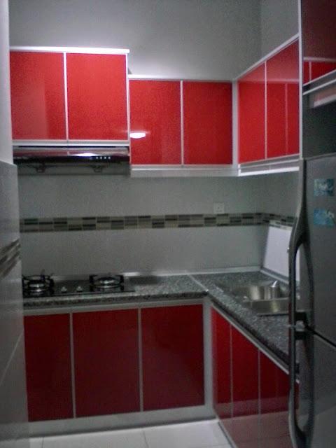 Kabinet Dapur Merah Desainrumahid