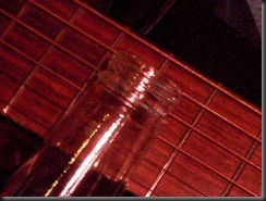 slide bottleneck botella guitarra