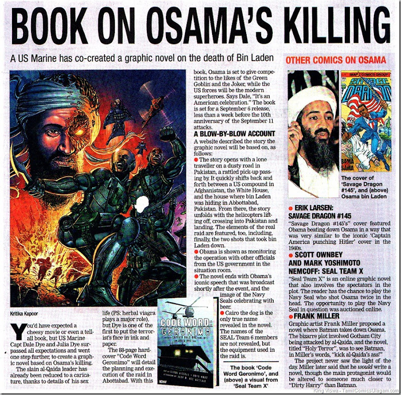 Times of India Chennai Edition Dated 27062011 Chennai Times Page 01 Comics on Osama