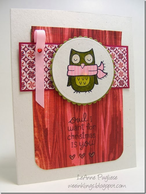 LeAnne Pugliese WeeInklings Paper Players 175 Lawn Fawn Owl Christmas Stampin