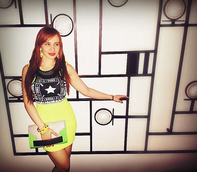 Neon Dress & H&M Swag Collection Crop Top