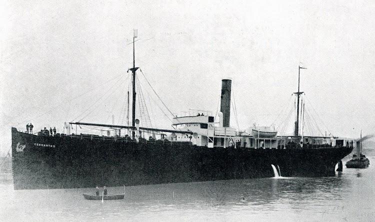 El CERVANTES en sus pruebas de mar. De la revista THE SHIPBUILDER. Num.114. Febrero de 1.920.JPG