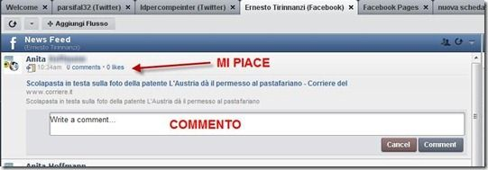gestione facebook commenti