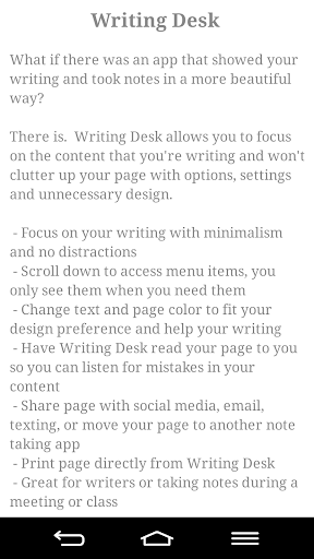 【免費生產應用App】Writing Desk Lite-APP點子