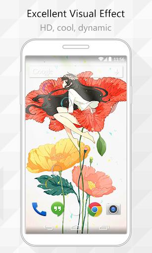 Flower Elf Live Wallpaper