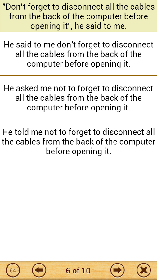 Grammar : Reported Speech - screenshot