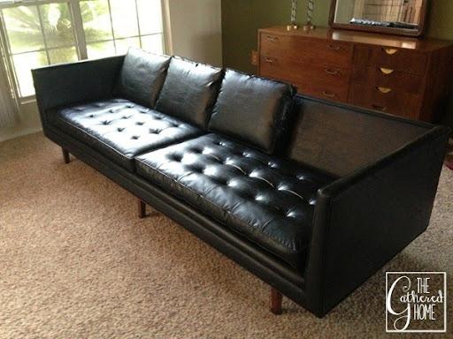Black Mid Century Sofa 10
