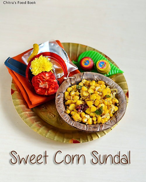 sweet corn sundal for navratri