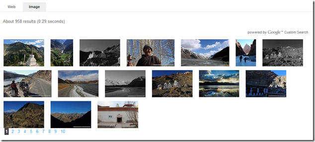 Image search that links to relevant post