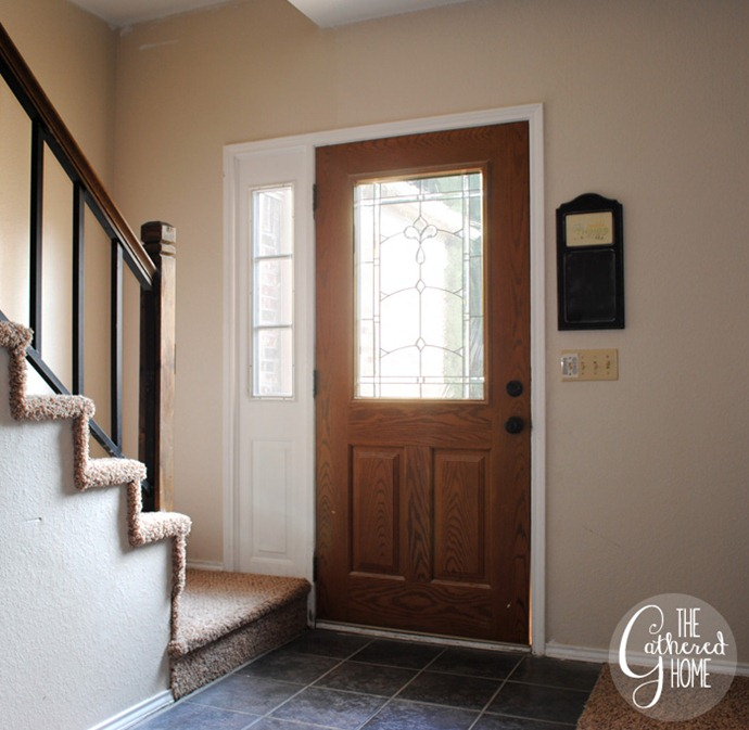 Diy Black And White Painted Front Door The Gathered Home