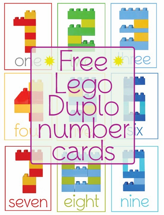 Homeschool Presechool: Lego Duplo Number Cards