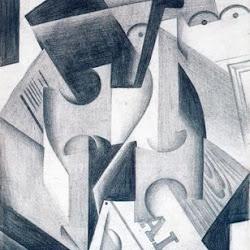 Juan Gris (1917): Bouteille, verre et pipe. Museo de Bellas Artes de Grenoble. Grenoble. Francia.