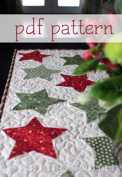 Christmas Star Table Runner - pattern