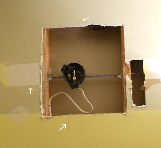an easy way to hang a light fixture between studs rh newcombhome blogspot com