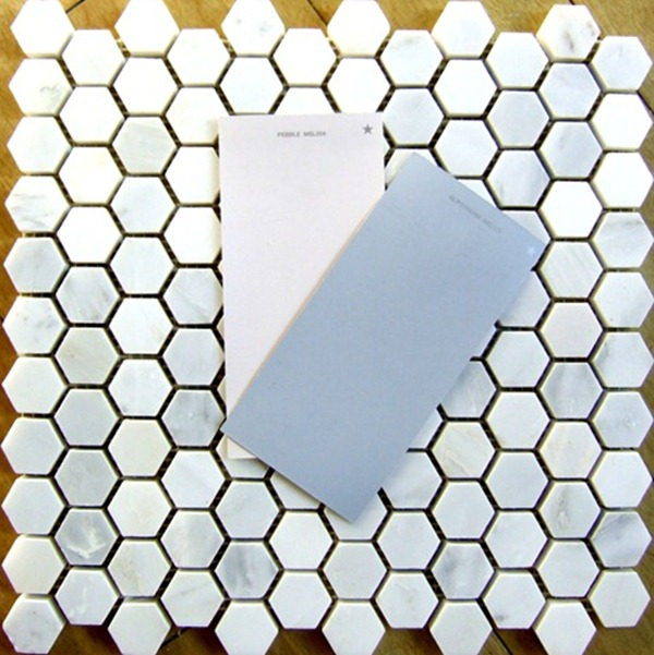 Marble hex tile