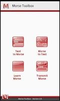 Screenshot of Morse Code Toolbox