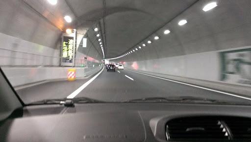 [写真]小倉山トンネル内部。撮影はかみさん