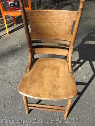 antique pew chair restoration (18)